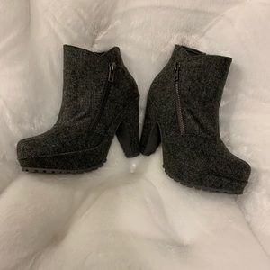 Charcoal gray Blowfish Bootie